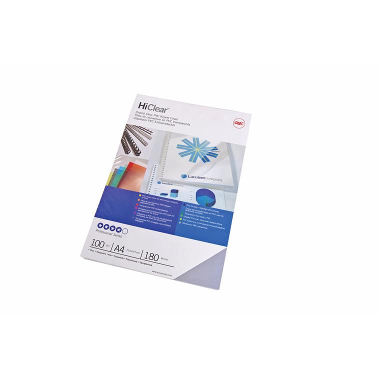 Plastforsider t/indbinding A3 100stk/æsk 180mic klar