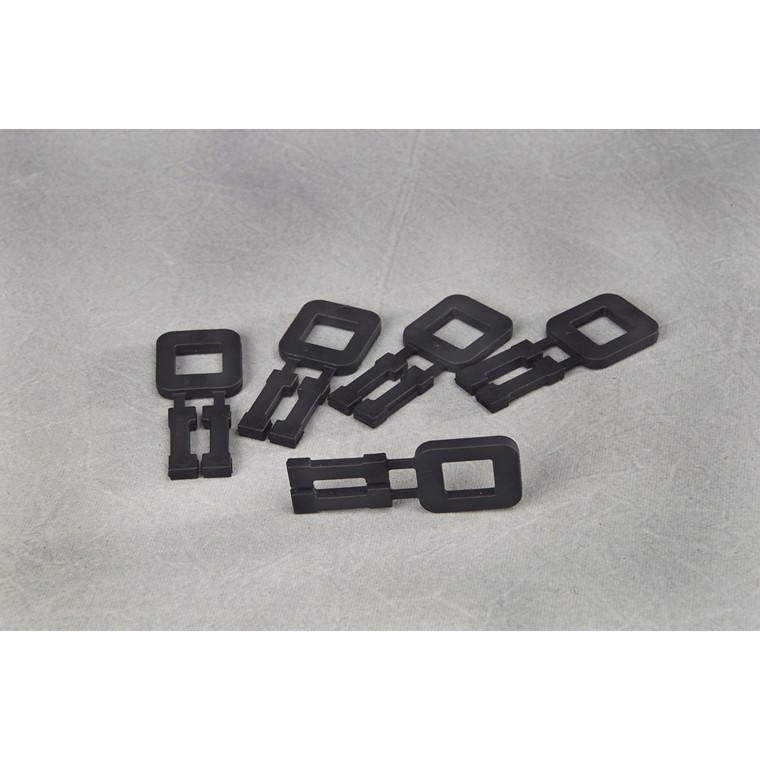 Plasthåndspænder i sort til 16 mm bånd - 1000 stk i karton