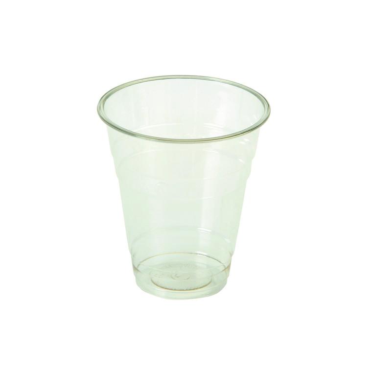 Plastikglas 20 cl PLA klar Ø 76 mm - 90 stk