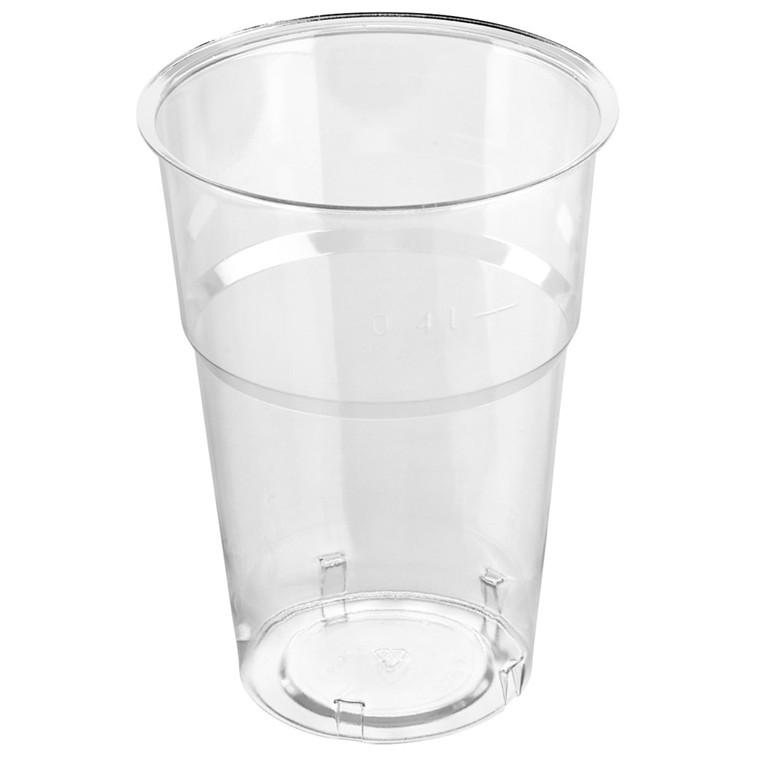Plastikglas krystal 40 cl - 40 stk. i en pose