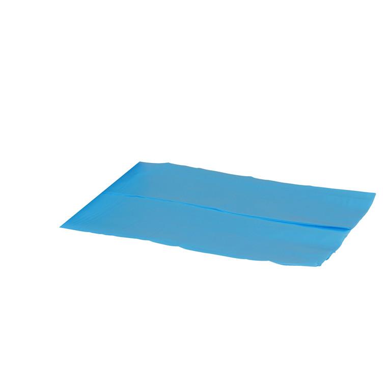 Blå Plastikpose HDPE - 650-225 x 650 x 0,01 mm - 1 pose