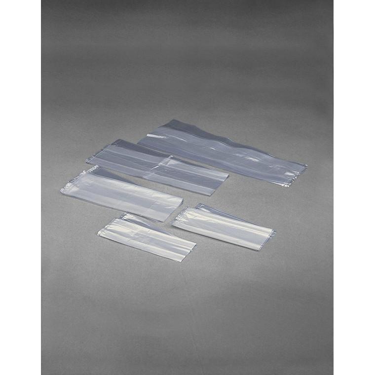 Plastikpose med sidefals i LDPE klar - 120 x 35 x 300 x 0,025 mm 1000 stk
