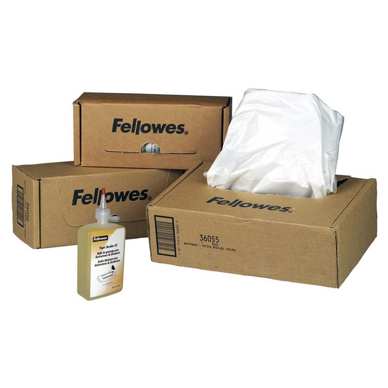 Plastiksække til makulering Fellowes 165l 50stk/pak