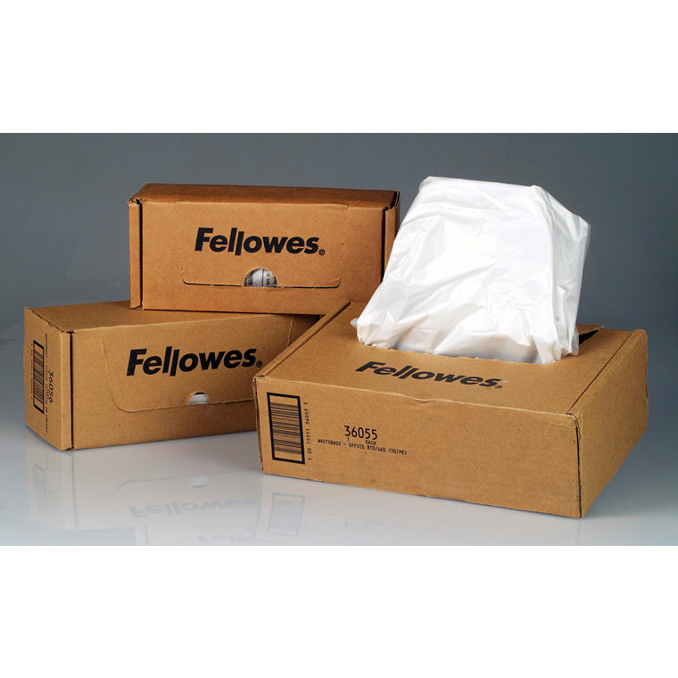 Plastiksække til makulering Fellowes 38l 100stk/pak