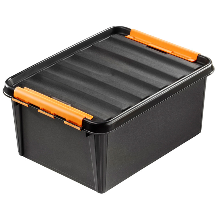 Plastkasse - Smart Store 50 x 39 x 26 cm sort og robust