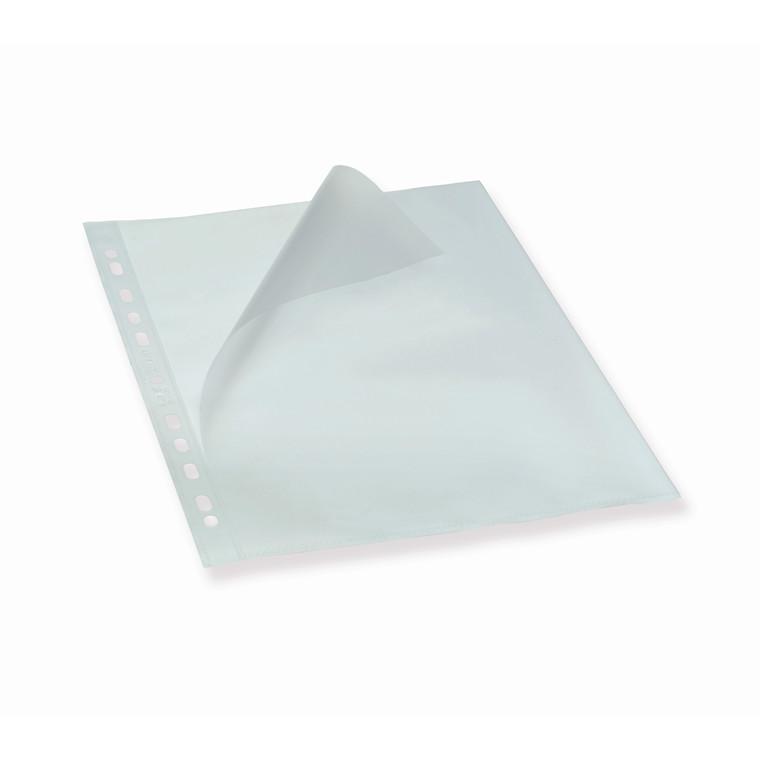 Plastlomme Bantex A4 0,12mm åben top/ven. præg 100stk/pak