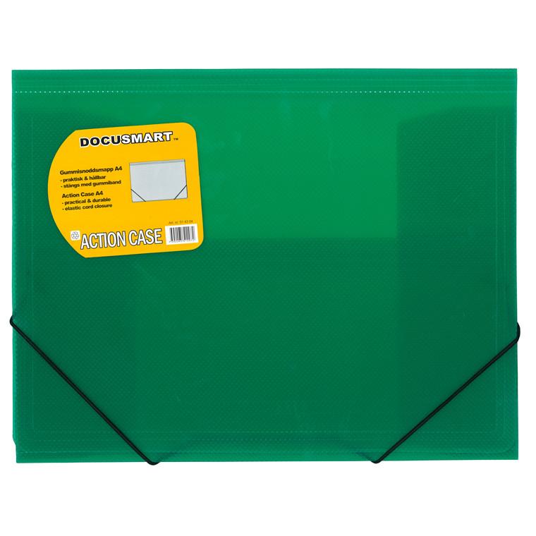 A4 mappe i plast BNT med 3 klapper Dokusmart - grøn
