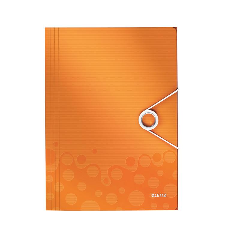 A4 elastikmappe orange Leitz WOW | 45990044