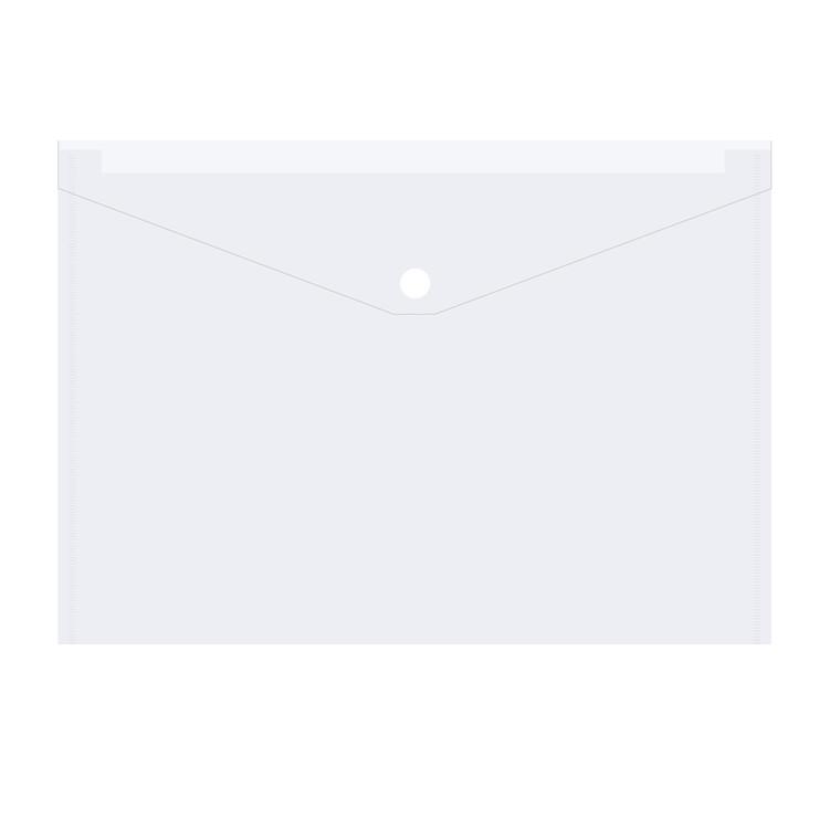 Mappe i klar plast BNT - Med klap og trykknap A4