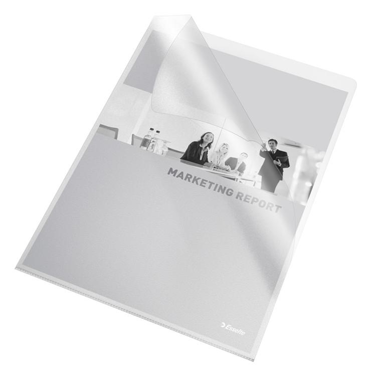 Plastomslag A4 Esselte 0,115mm klar 10stk/pak