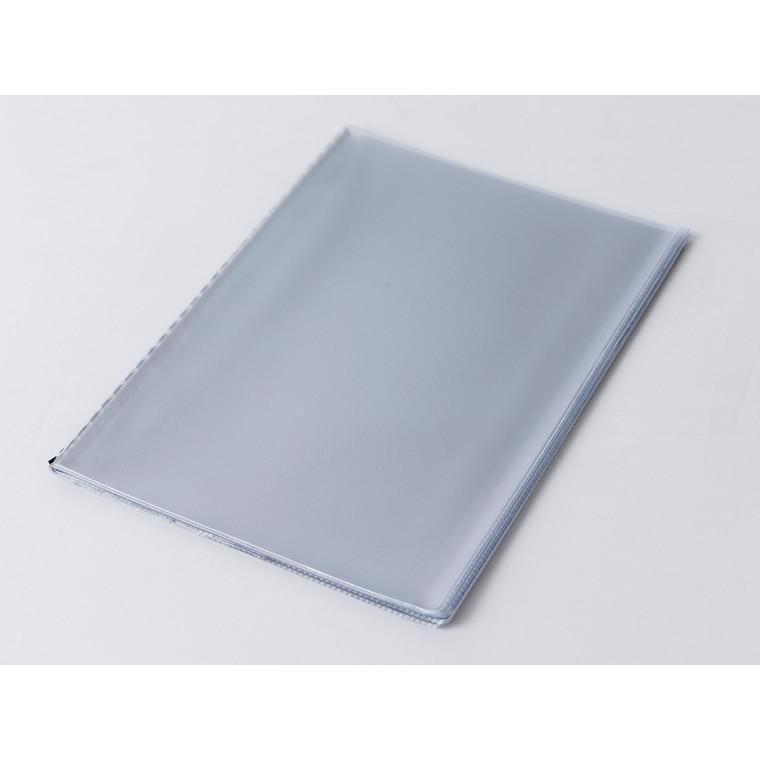 Plastslommesæt menu A5 klar m/10 lommer og hårdt bagstykke