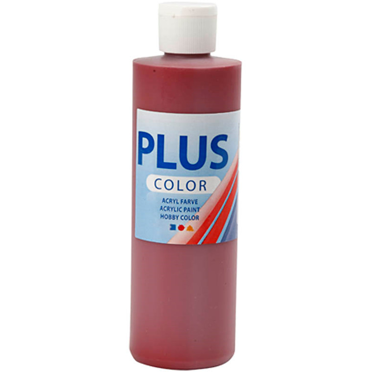 Plus Color hobbymaling, antique red, 250ml