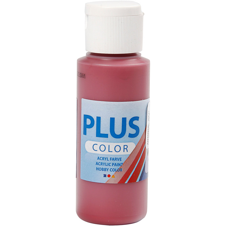 Plus Color hobbymaling, antique red, 60ml