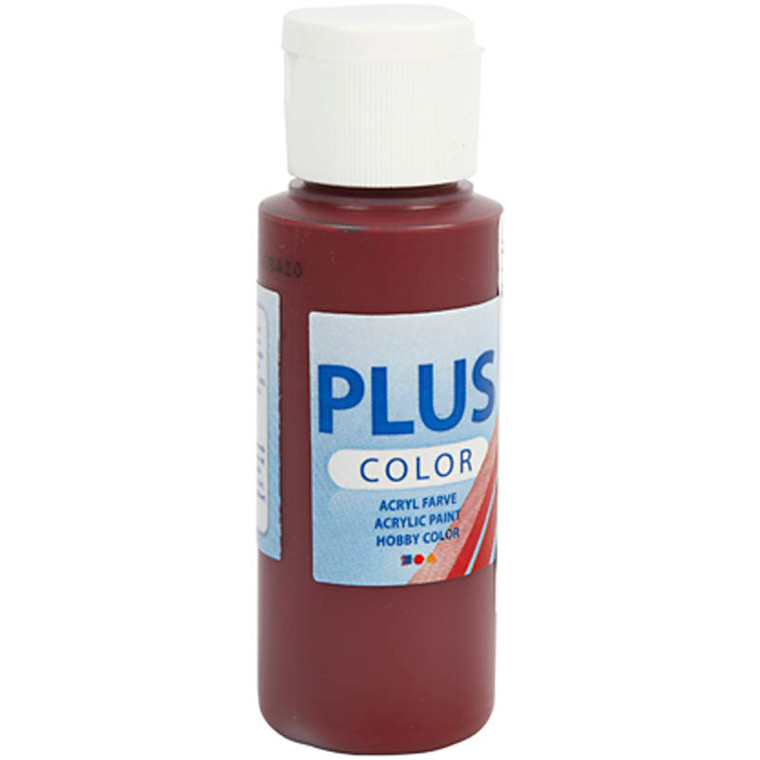 Plus Color hobbymaling, bordeaux, 60ml