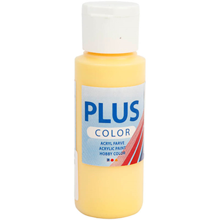 Plus Color hobbymaling, crocus yellow, 60ml
