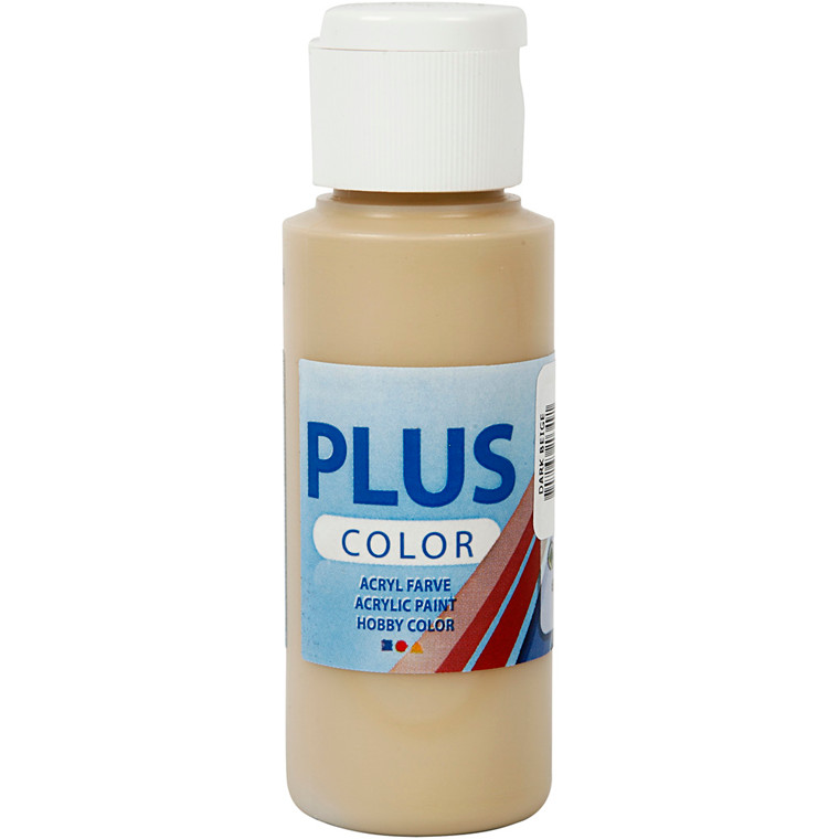 Plus Color hobbymaling, dark beige, 60ml