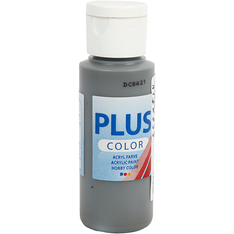 Plus Color hobbymaling, dark grey, 60ml