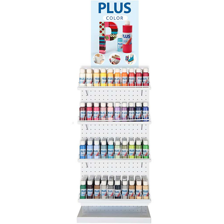 Plus Color Hobbymaling, ekskl. inventar, 40x6fl.