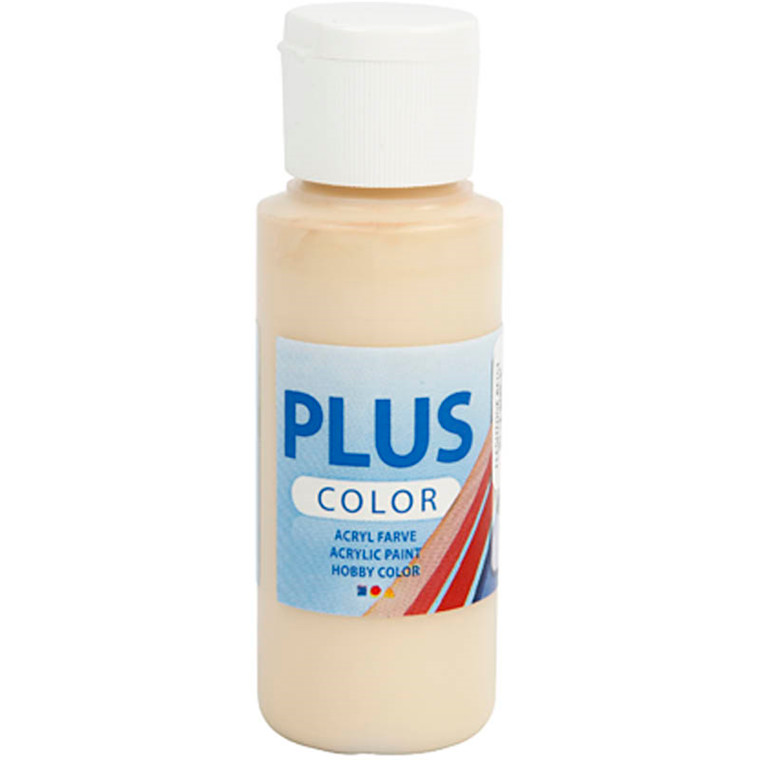Plus Color hobbymaling, ivory beige, 60ml