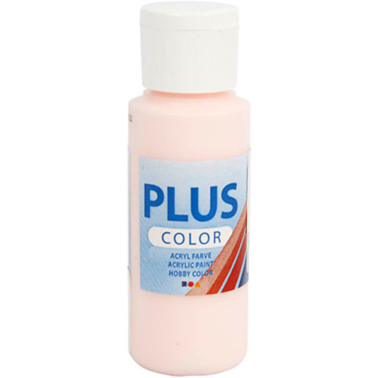 Plus Color hobbymaling, pale rose, 60ml
