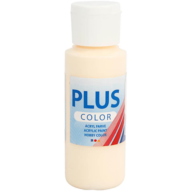 Plus Color hobbymaling, pale yellow, 60ml