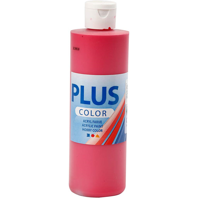 Plus Color hobbymaling, primary red, 250ml