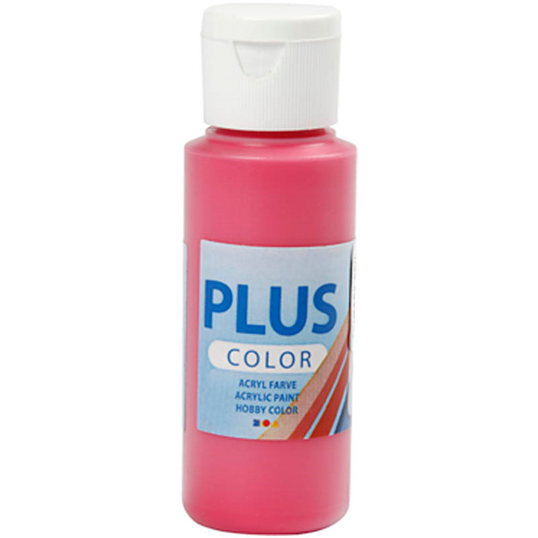 Plus Color hobbymaling, primary red, 60ml