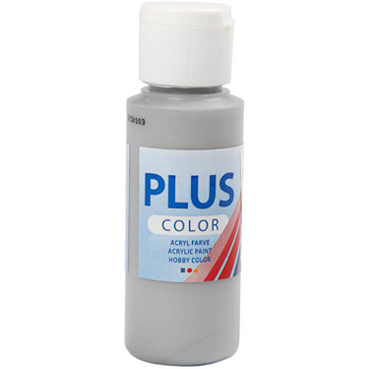 Plus Color hobbymaling, rain grey, 60ml