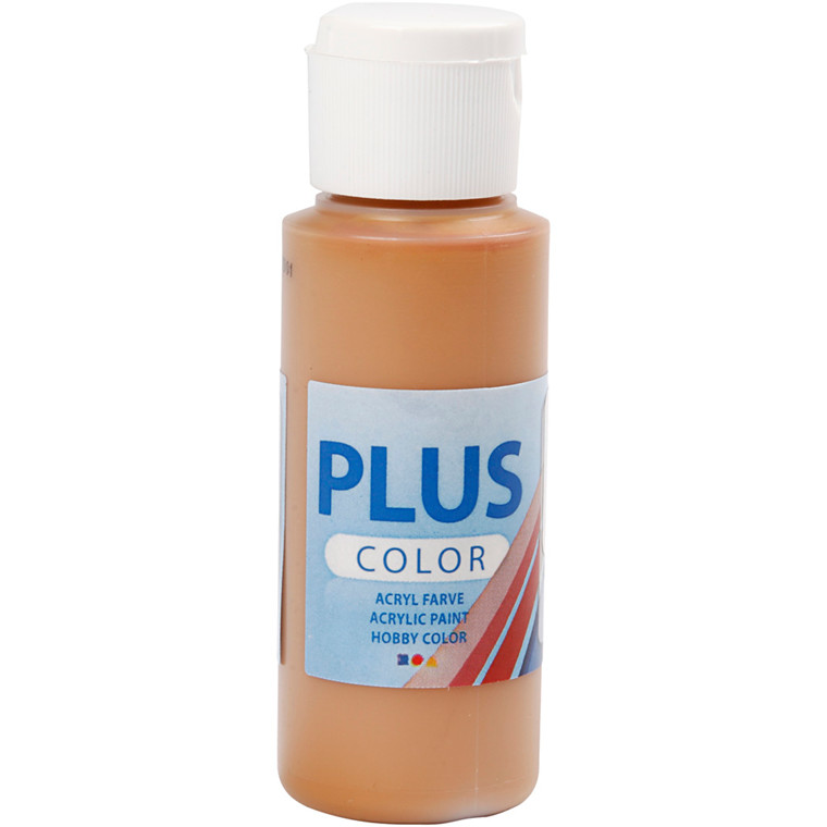 Plus Color hobbymaling, raw sienna, 60ml