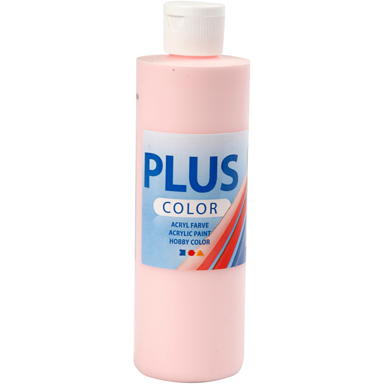 Plus Color hobbymaling, soft pink, 250ml