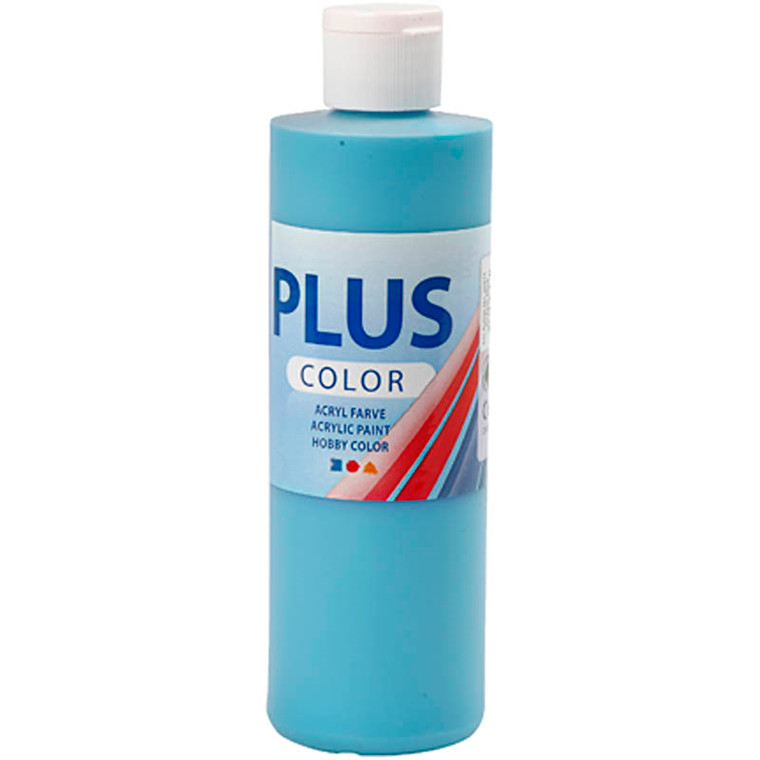 Plus Color hobbymaling, turquoise, 250ml