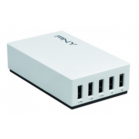 PNY Multi-USB Charger 5 Ports / 25W