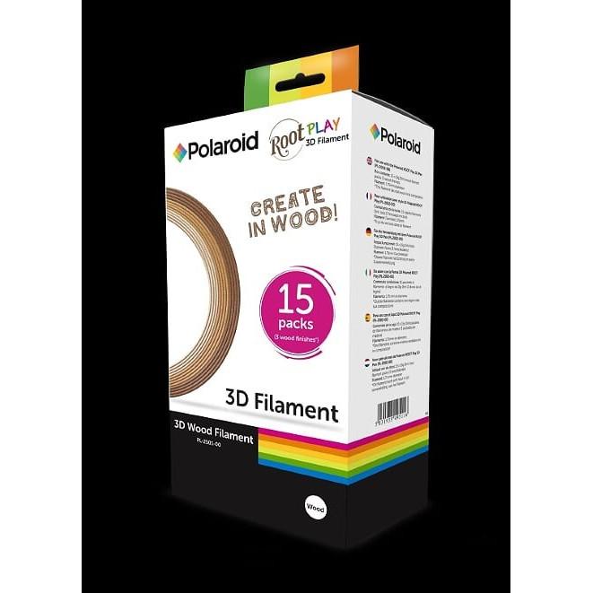 Polaroid 3D Wood Filament (box of 15 reels)