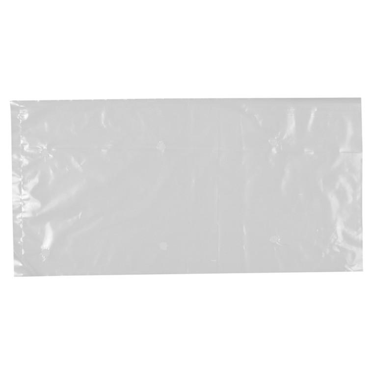 Pose, LDPE, uden foldning, med ventilhuller, uden tryk, transparent, 25 my, 25x50 cm, 7,5 l