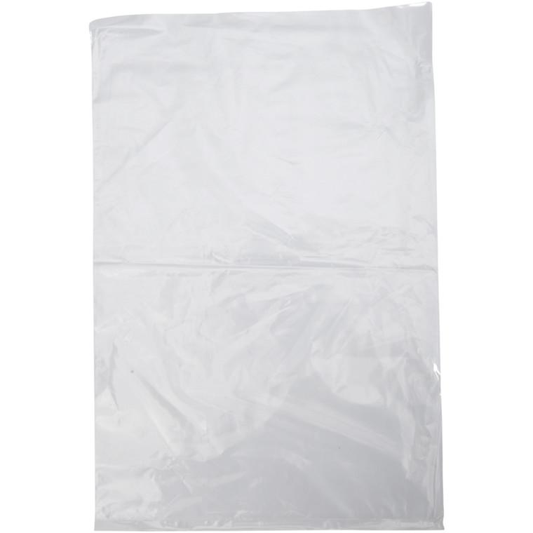 Pose, LDPE, uden foldning, uden tryk, transparent, 25 my, 25x38 cm, 5 l