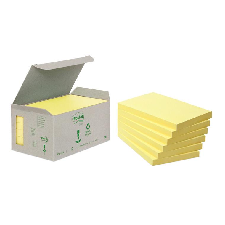 Post-it notes Miljø 76x127mm gul 6blk/pak