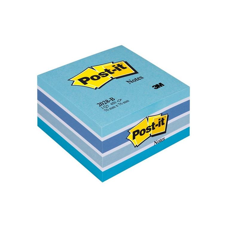 Post-it Notes pastelblå - Kubusblok 76 x 76 mm