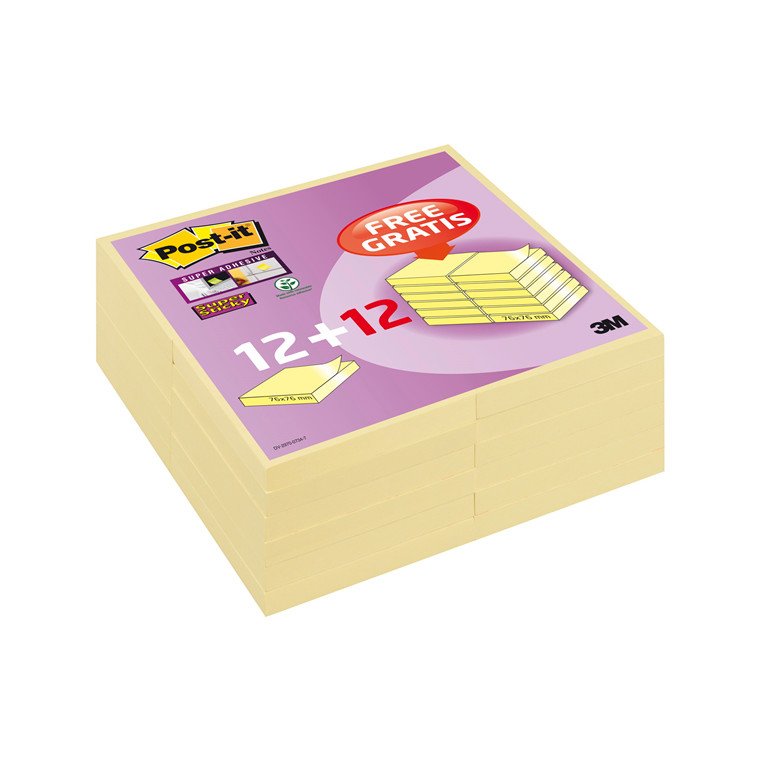 Post-it Super Sticky notes 654SSCYP12+12 2015 promo