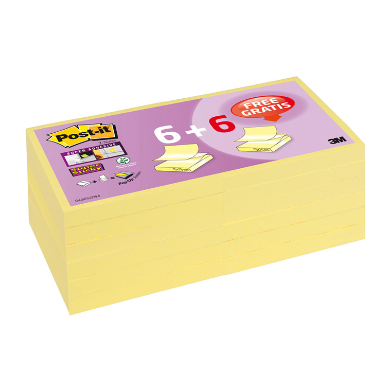 Post-it Super Sticky Z-notes R330SSCYP6+6 2015 promo