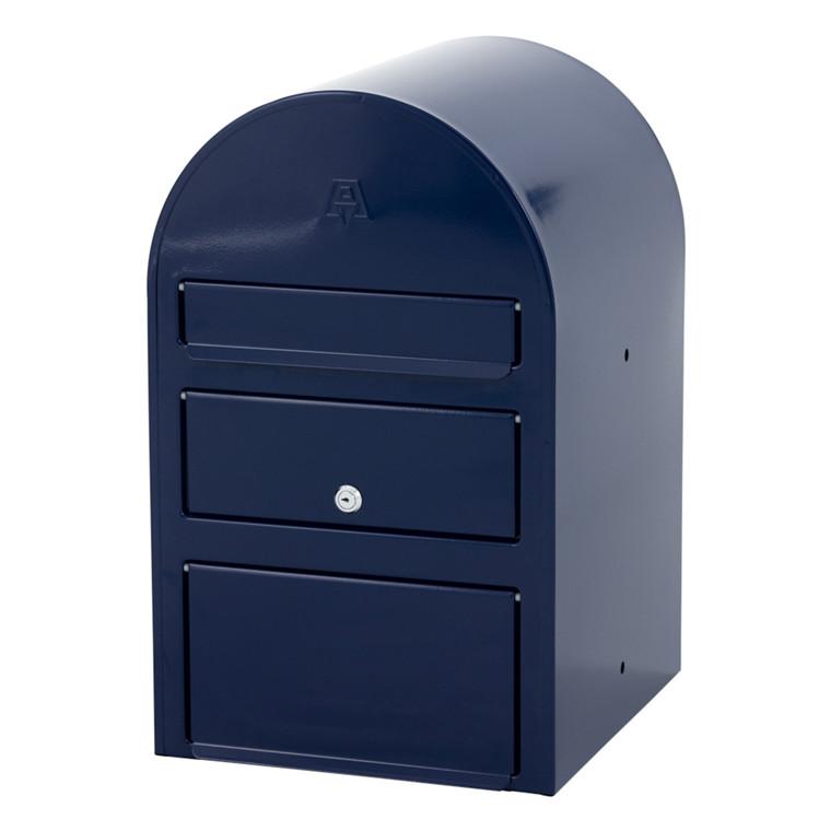 Postkasse SAM ekstra large, klar til jordmontering, blå,