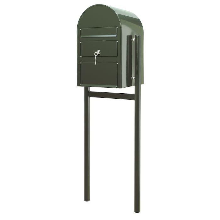 Postkasse SAM ekstra large, klar til jordmontering, grøn,