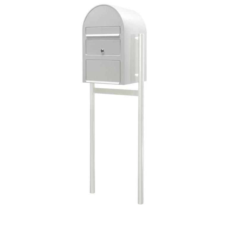 Postkasse SAM ekstra large, klar til jordmontering, hvid,