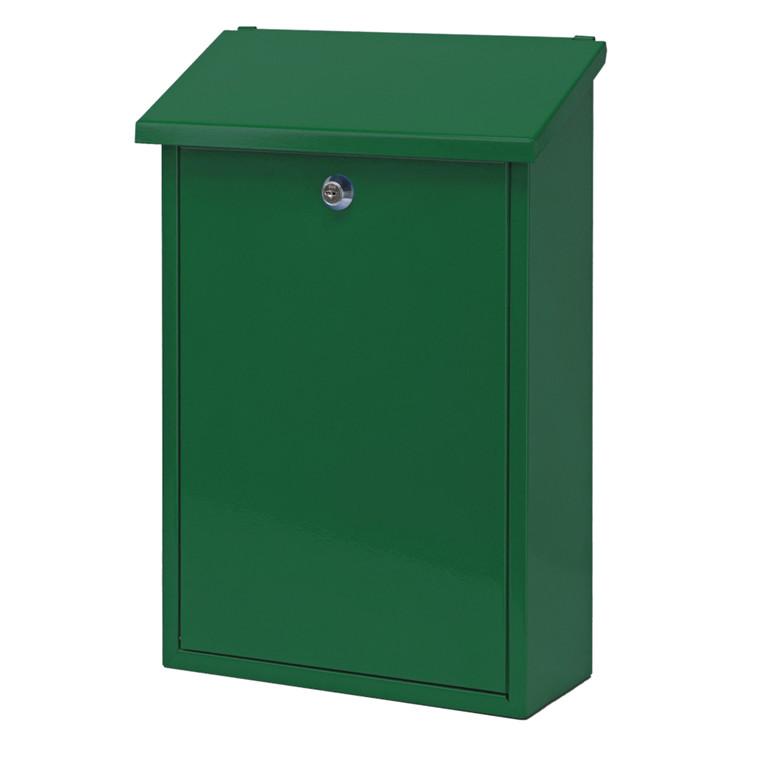 Postkasse, V-part, klar til vægmontering, grøn,