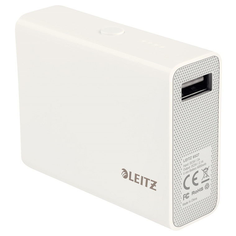 PowerBank USB Complete hvid 6000mAh