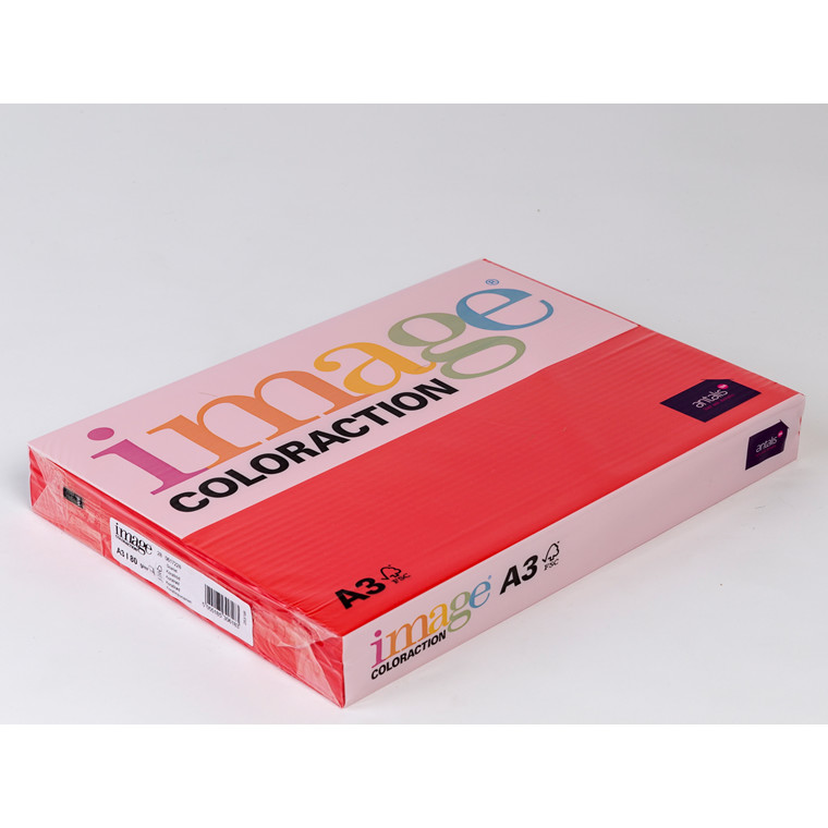 Printerpapir - Image Coloraction A3 80 gram - Koralrød 28 - 500 ark