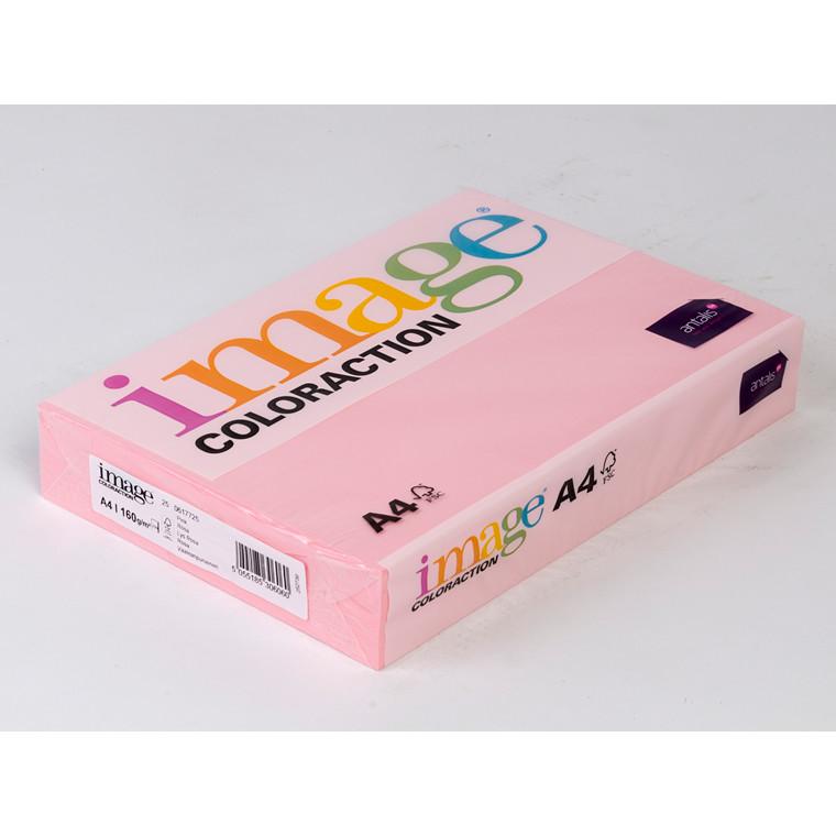 Printerpapir - Image Coloraction A4 160 gram - lys rosa 25 - 250 ark