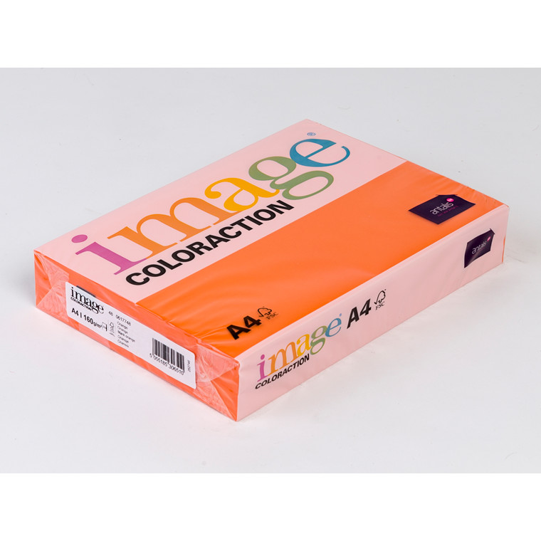 Printerpapir - Image Coloraction A4 160 gram - mørk orange 48 - 250 ark