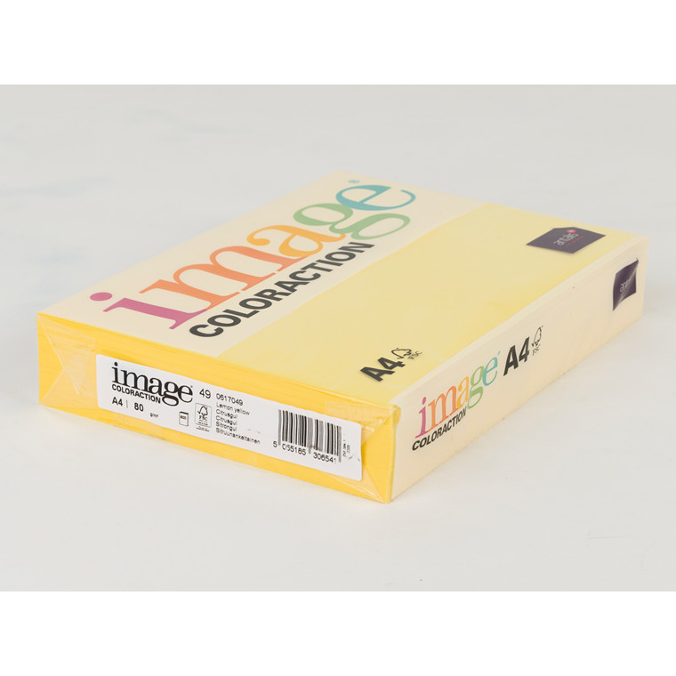 Printerpapir - Image Coloraction A4 80 gram - Citrusgul 49 - 500 ark