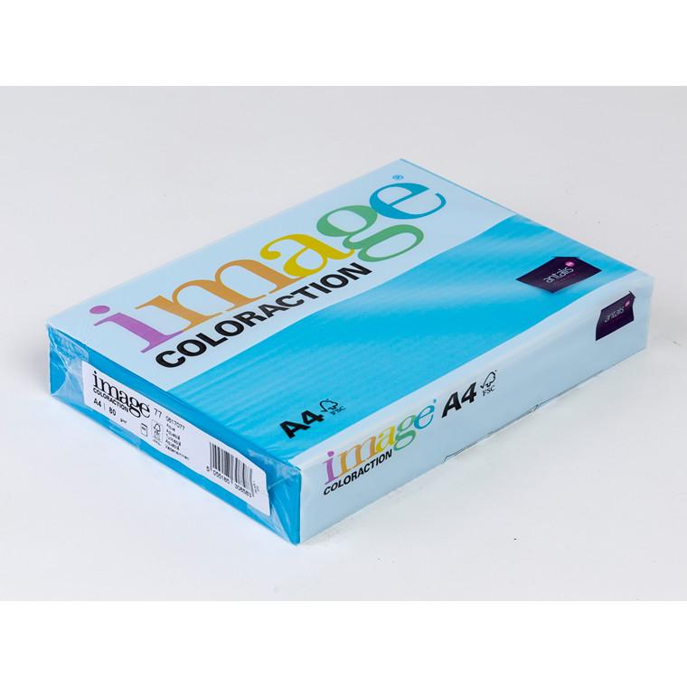 Printerpapir - Image Coloraction A4 80 gram - Turkisblå 77 - 500 ark