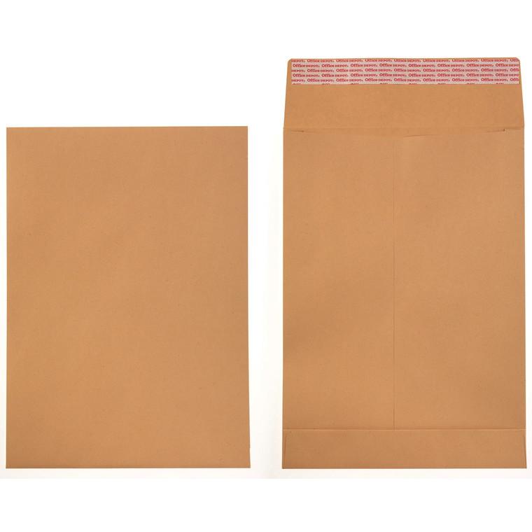 Prøveposer - B4 Office Depot brun 250 x 353 x 40 mm 2096032 - 100 stk
